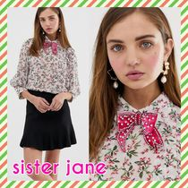 Sister Jane Flower Patterns Cropped Shirts & Blouses