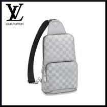 02cf375c4c1a Louis Vuitton DAMIER INFINI Street Style Leather Messenger   Shoulder Bags