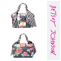Betsey Johnson Flower Patterns Casual Style Handbags
