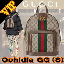 GUCCI Ophidia Stripes Unisex Canvas 2WAY Backpacks
