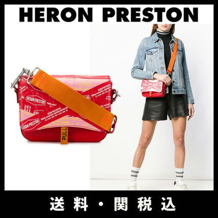 Casual Style Street Style 2WAY Leather Shoulder Bags