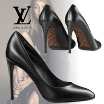 Louis Vuitton Monogram Leather Pin Heels Elegant Style