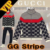 GUCCI Crew Neck Monogram Long Sleeves Cotton Logos on the Sleeves