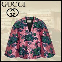 GUCCI Short Flower Patterns Ponchos & Capes