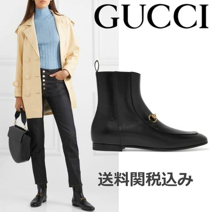 859aeb1d24d ... Boots 6 GUCCI Ankle   Booties Plain Toe Plain Leather Elegant Style  Ankle   Booties ...