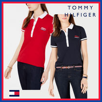 Tommy Hilfiger Plain Cotton Medium Short Sleeves Office Style Polo Shirts