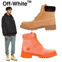 Off-White Mountain Boots Plain Leather Outdoor Boots