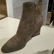 Jimmy Choo Plain Toe Suede Plain Elegant Style Wedge Boots