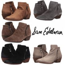 Sam Edelman Plain Leather Ankle & Booties Boots