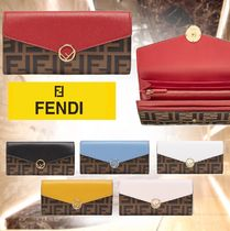 FENDI Monogram Leather Home Party Ideas Halloween Long Wallets