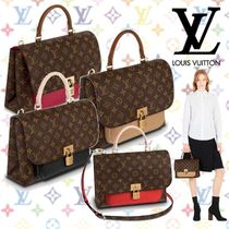 Louis Vuitton MARIGNAN Monogram Blended Fabrics Tassel 2WAY Plain Elegant Style