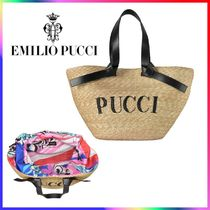 Emilio Pucci Blended Fabrics Straw Bags