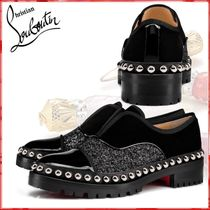Christian Louboutin Casual Style Blended Fabrics Chain Plain Leather