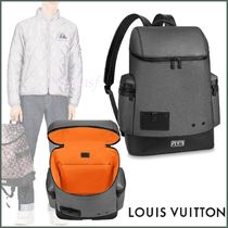 Louis Vuitton TAURILLON Other Check Patterns Blended Fabrics Street Style A4 2WAY