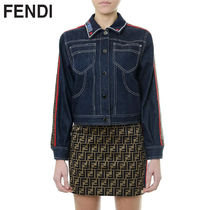 FENDI Short Casual Style Denim Jackets