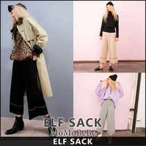 ELF SACK Casual Style Long Culottes & Gaucho Pants