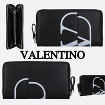 VALENTINO Calfskin Plain Long Wallets