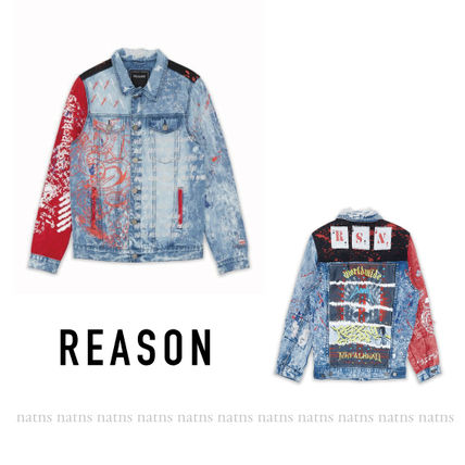 Short Unisex Denim Street Style Denim Jackets Jackets