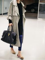 Plain Long Elegant Style Trench Coats