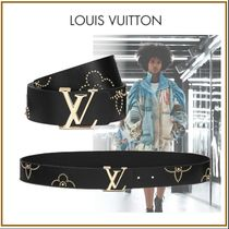 Louis Vuitton Flower Patterns Blended Fabrics Studded Leather With Jewels