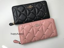 Coach Studded Leather Long Wallets