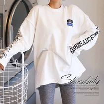 Long Sleeves Cotton Medium Oversized Logos on the Sleeves