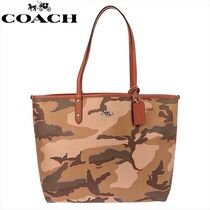 Coach Camouflage A4 PVC Clothing Totes