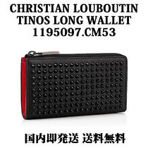 Christian Louboutin Panettone  Unisex Studded Plain Leather Long Wallets