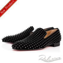 Christian Louboutin DANDELION Suede Studded Plain Oxfords
