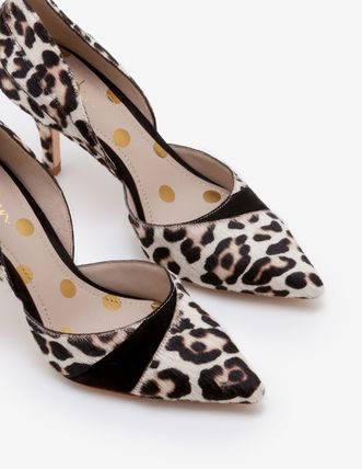 Leopard Patterns Leather Pumps & Mules