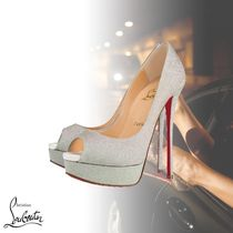 Christian Louboutin Open Toe Peep Toe Pumps & Mules