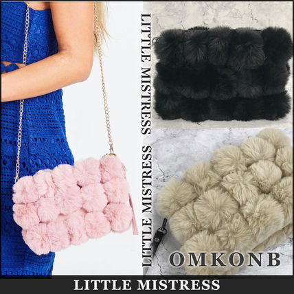 Faux Fur Party Style Crossbody Clutches