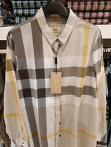 Burberry Other Check Patterns Long Sleeves Shirts & Blouses