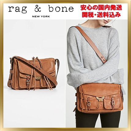 Lambskin Plain Elegant Style Crossbody Shoulder Bags