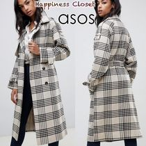 ASOS Other Check Patterns Casual Style Wool Long Oversized