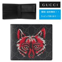 GUCCI GG Supreme Other Animal Patterns Folding Wallets