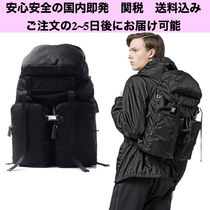 PRADA Nylon Blended Fabrics A4 Plain Backpacks