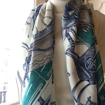 HERMES Birkin Cashmere Other Animal Patterns Lightweight Scarves & Shawls