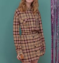 rolarola Other Check Patterns Long Sleeves Cotton Shirts & Blouses