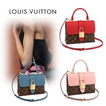 Louis Vuitton MONOGRAM Blended Fabrics 3WAY Leather Elegant Style Shoulder Bags