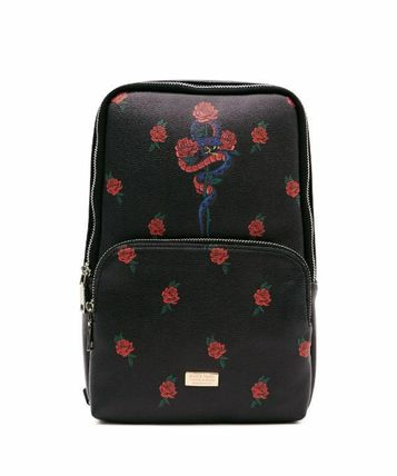 Flower Patterns Unisex Street Style Bags