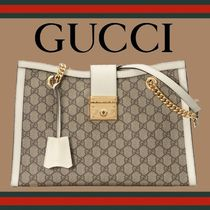 GUCCI Unisex Office Style Shoulder Bags