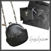 Yohji Yamamoto Unisex Chain Leather Coin Cases