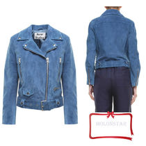 Acne Short Casual Style Suede Jackets