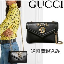 GUCCI Chain Plain Other Animal Patterns Leather Elegant Style