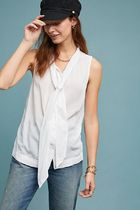 Anthropologie Casual Style Street Style Plain Oversized Shirts & Blouses