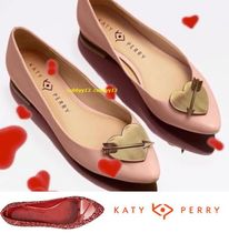 Katy Perry Blended Fabrics Leather Ballet Shoes