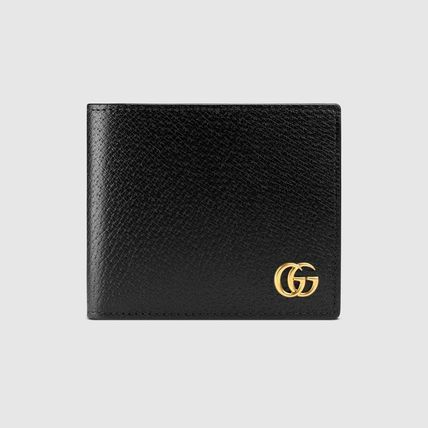 GUCCI Folding Wallets Calfskin Plain Folding Wallets 2