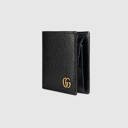 GUCCI Folding Wallets Calfskin Plain Folding Wallets 5