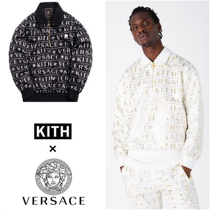 KITH NYC More Tops Pullovers Nylon Street Style Collaboration Long Sleeves Logo